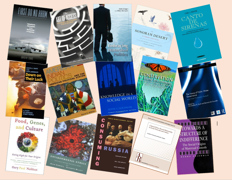 Selected covers of books by former Udall Center fellows